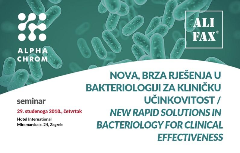 ALIFAX SEMINAR: Nova, brza rješenja u bakteriologiji za kliničku učinkovitost